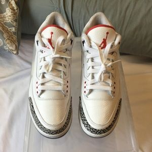 Air Jordan 3 white cement size 8